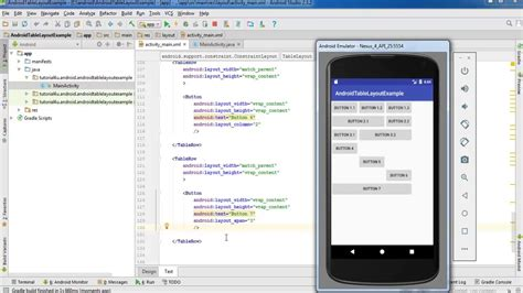 layout android youtube android layouts table layout android studio tutorial