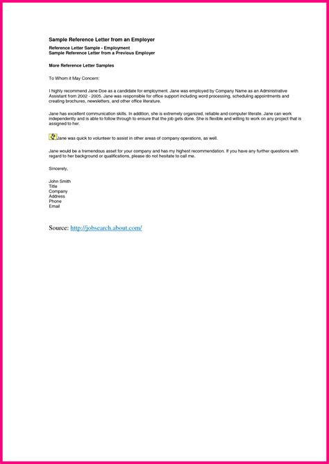 Recommendation Letter Template From Employer 10 Letter Of Recommendation From Current Employer