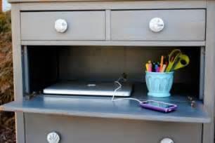 repurpose a dresser into a mini desk chaos to order