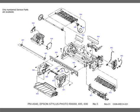 epson sp1390 resetter epson rx680 rx685 rx690 parts list new service