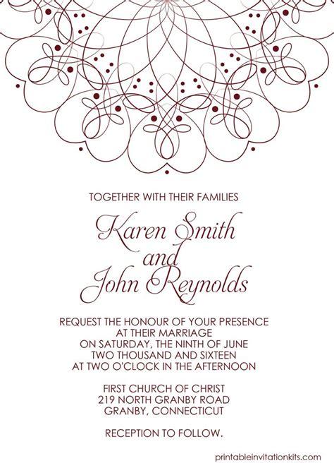 wedding invitations templates free download