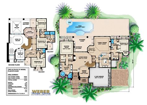 weber design group home plans mediterranean house plan beach or waterfront golf course