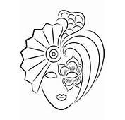 Careta Para Carnaval Exotica  Dibujos Colorear