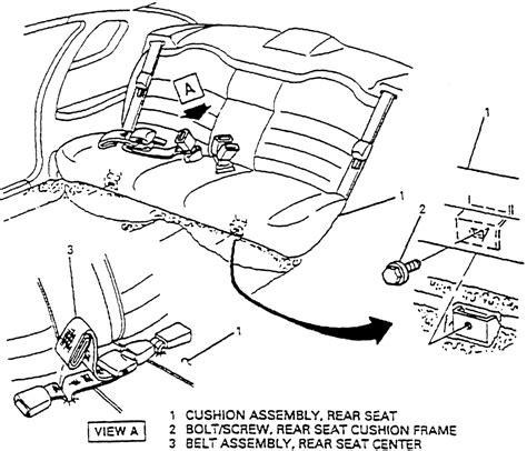 how to remove front passenger seat 2000 daewoo leganza repair guides interior seats autozone com