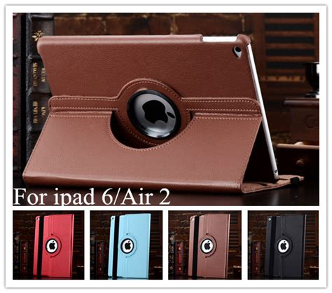 Promo Air 360 Rotating Leather Smart high quality 360 degree rotating stand leather smart cover for air 2 6 with