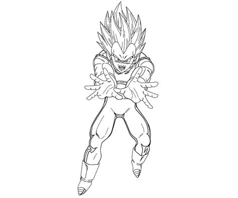 vegeta 5 coloring crafty teenager