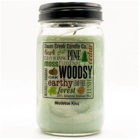 Swan Creek Candle Company Gingerbread by Mistletoe 24 Oz Swan Creek Kitchen Pantry Jar Candle