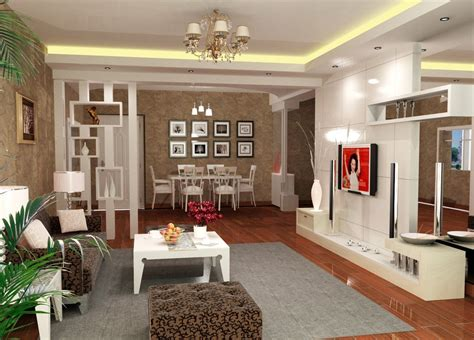 simple dining living room interior design 3d house free