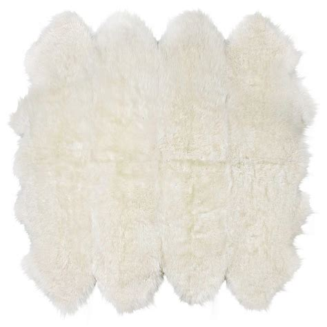 ivory fur rug veruca modern ivory sheepskin 8 pelt fur rug kathy kuo home