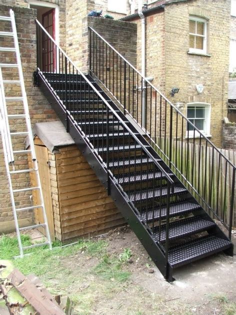 outdoor staircase design metal staircase design outdoor building project image 03