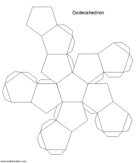 Best Photos Of Dodecahedron Cut Out 4 Pieces 12 Sided 3d - paper dodecahedron