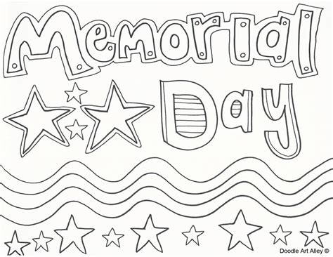 memorial day coloring pages doodle alley