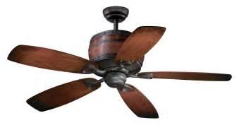 52 wine barrel ceiling fan includes light kit