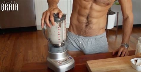 cooking in boxers with chef bailey 50 ways to keep your mate in bed books chef makes chia pudding and shows bulge in
