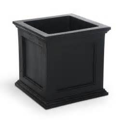 shop mayne 20 in x 20 in black resin self watering square