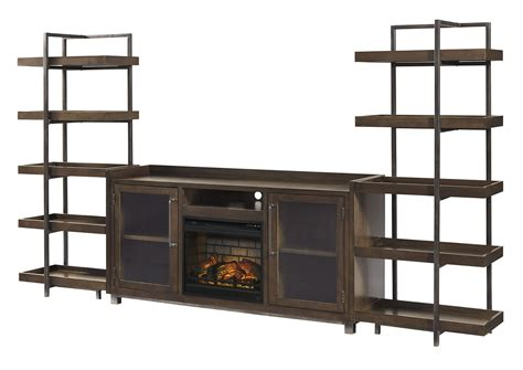 starmore brown entertainment center wfireplace insert
