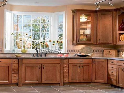 miscellaneous kitchen design with oak cabinets