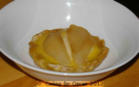 salicylate challenge using up leftover pastry custard and pear and fruit