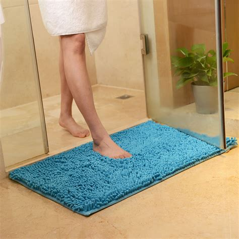 machine washable bathroom carpet honana 50x80cm chenille soft mat machine washable bathroom anti slip absorbent carpet