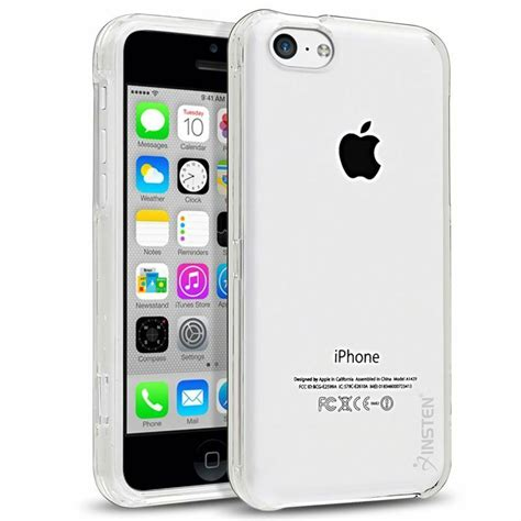 iphone 5c cases ultra thin clear transparent snap on cover for apple iphone 5c ebay