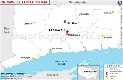 new hshire location usa map where is cromwell connecticut