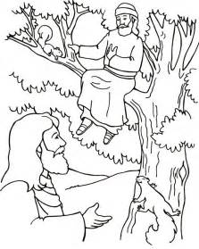 zacchaeus coloring page tree coloring pages coloring pages zacchaeus tree