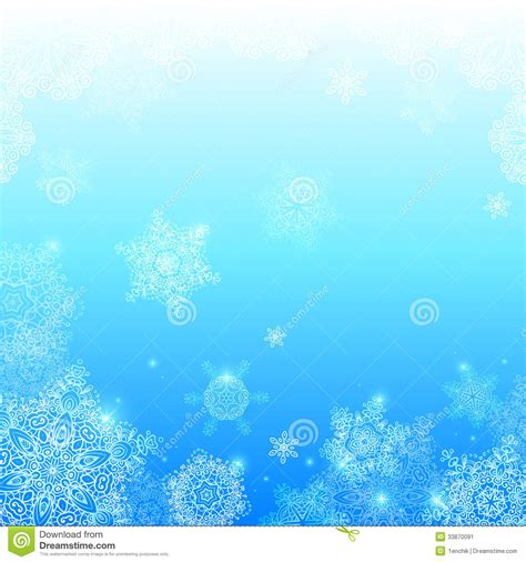light for winter blues blue snowflakes light winter vector background stock image