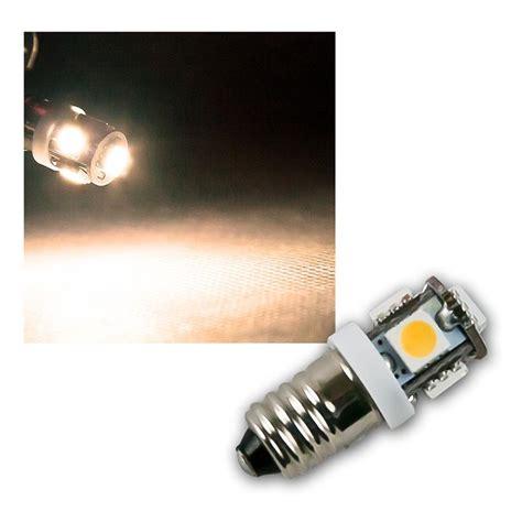 led leuchtmittel 12v led leuchtmittel e10 warmwei 223 12v dc 5x 5050 smd