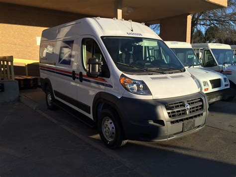 postal vehicles postal work units receiving massive chrysler vans for