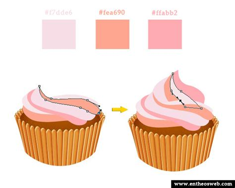 tutorial illustrator cupcake photoshop drawing learn to make a delicious cupcake in