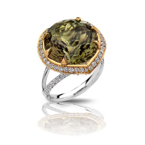 gemstones for jewelry zultanite 174 gemstone ring 18k white and yellow gold 15