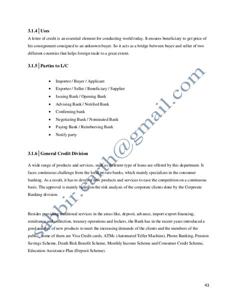 Bangladesh Letter Of Credit quot credit performance of a branch for export import bank