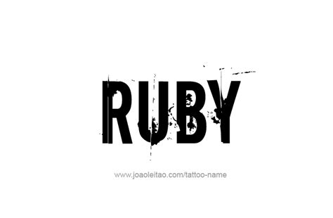 tattoo ideas for the name ruby ruby name tattoo designs