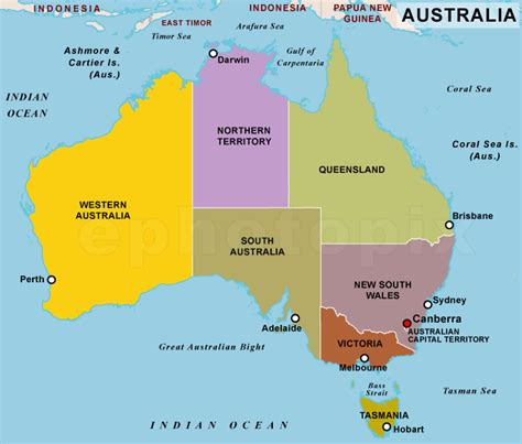 map of australia and states states australia map my
