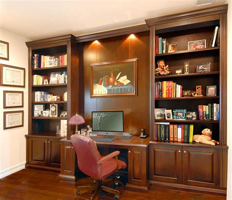 wall unit with desk and bookcases custom bookcases orlando wood shelving wooden wall