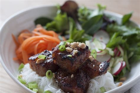 Bun Thit Nuong by Bun Thit Nuong Grilled Pork With Noodles A