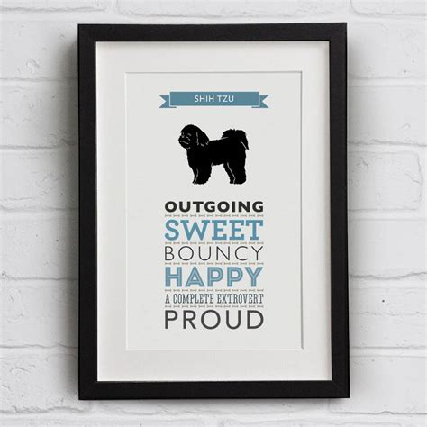 shih tzu original breed shih tzu breed traits print by well bred design