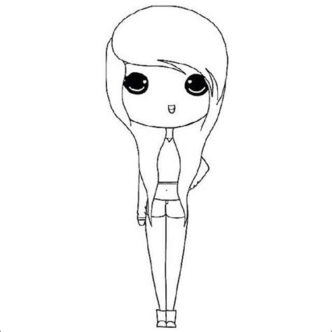 chibi template 12 printable chibi drawing templates free design ideas