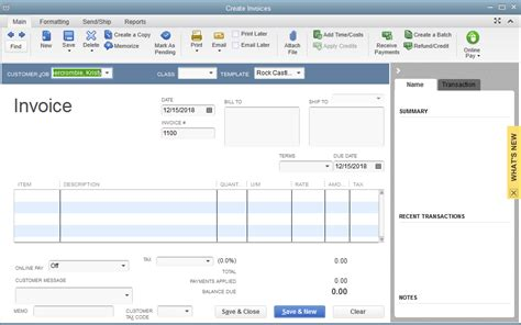 create invoice template quickbooks quickbooks 2014 screenshots 171 quickbooks and your business