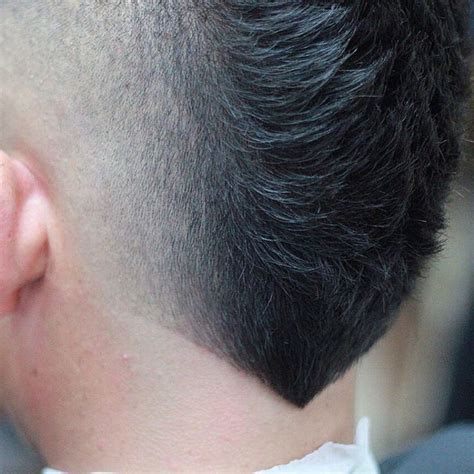 pictures of hairstyle neck line new hairstyles for men the v shaped neckline mohawks
