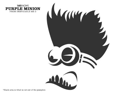 printable pumpkin carving patterns minion 6 best images of minion pumpkin stencil printable minion