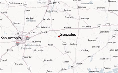 gonzales texas map gonzales texas location guide