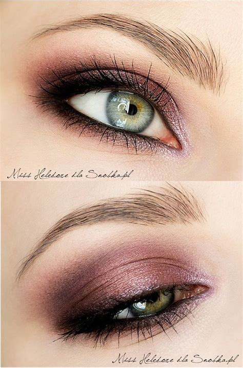 eyeliner tutorial top and bottom plum smokey eye click for tutorial it s in polish but it