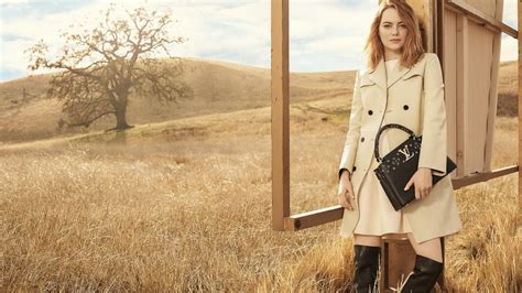 emma stone vuitton emma stone louis vuitton caign debut actress face of