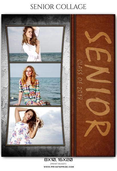 senior photo collage templates senior collage photography template