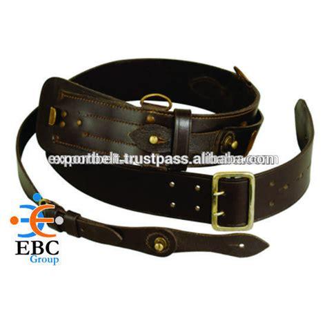 sam browne belt with sword frog genuine leather