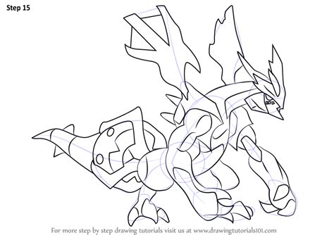 pokemon coloring pages kyurem learn how to draw kyurem from pokemon pokemon step by