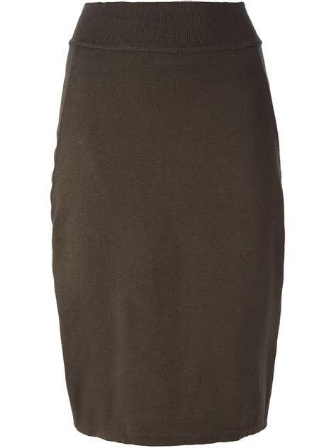 ala 239 a pencil skirt in brown lyst