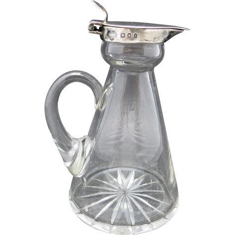 silver barware whiskey noggin sterling silver crystal hot toddy barware