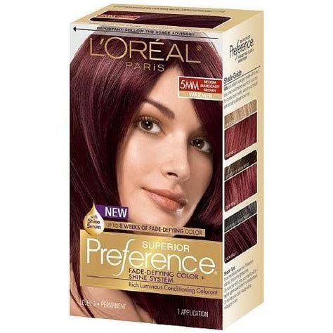 loreal hair color brown hair l oreal superior preference fade defying color and shine